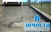 Узоры на бетонном полу