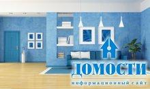Гостиные с синими диванами