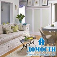 Уютные кухни с диванами