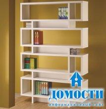 Белоснежные шкафы для книг