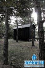 Крошечный дачный дом с баней
