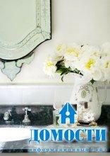 Живые цветы в ванной комнате