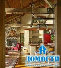Деревянный дом с местным характером