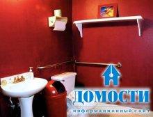 Яркая отделка ванной комнаты