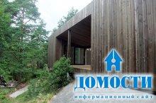 Деревянный дом-куб