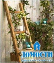 Лестницы в декоре сада