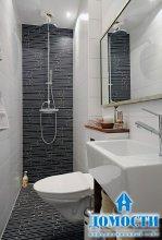 Минимализм монохромной ванной