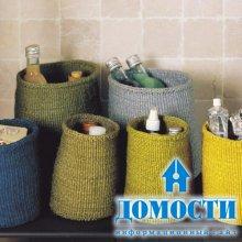 Плетеные корзины в интерьере