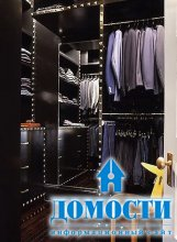 Как разместить одежду в гардеробной