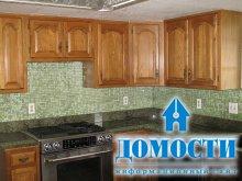 Интересная отделка кухонных стен