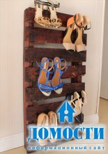 Обувные полки из старых поддонов