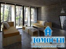 Лесной дом из бетона
