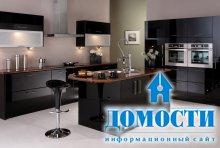 Современный интерьер кухни с баром