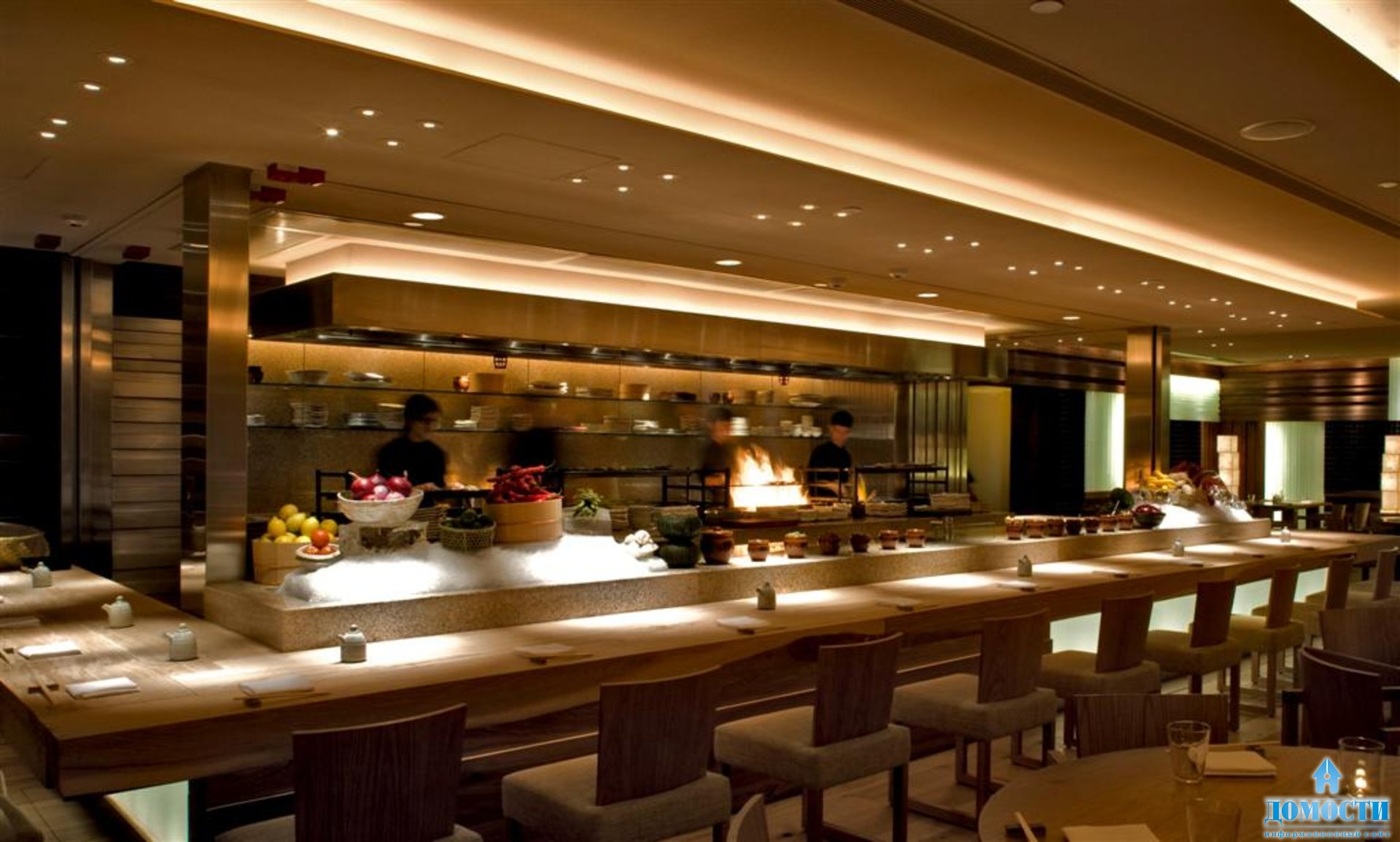 Японский дизайн ресторана