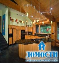 Отделка кухни в деревянном доме