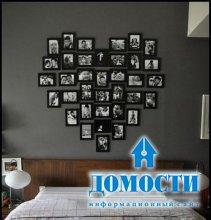 Оформление стены фотографиями своими руками
