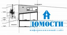 Современный дизайн дома на склоне