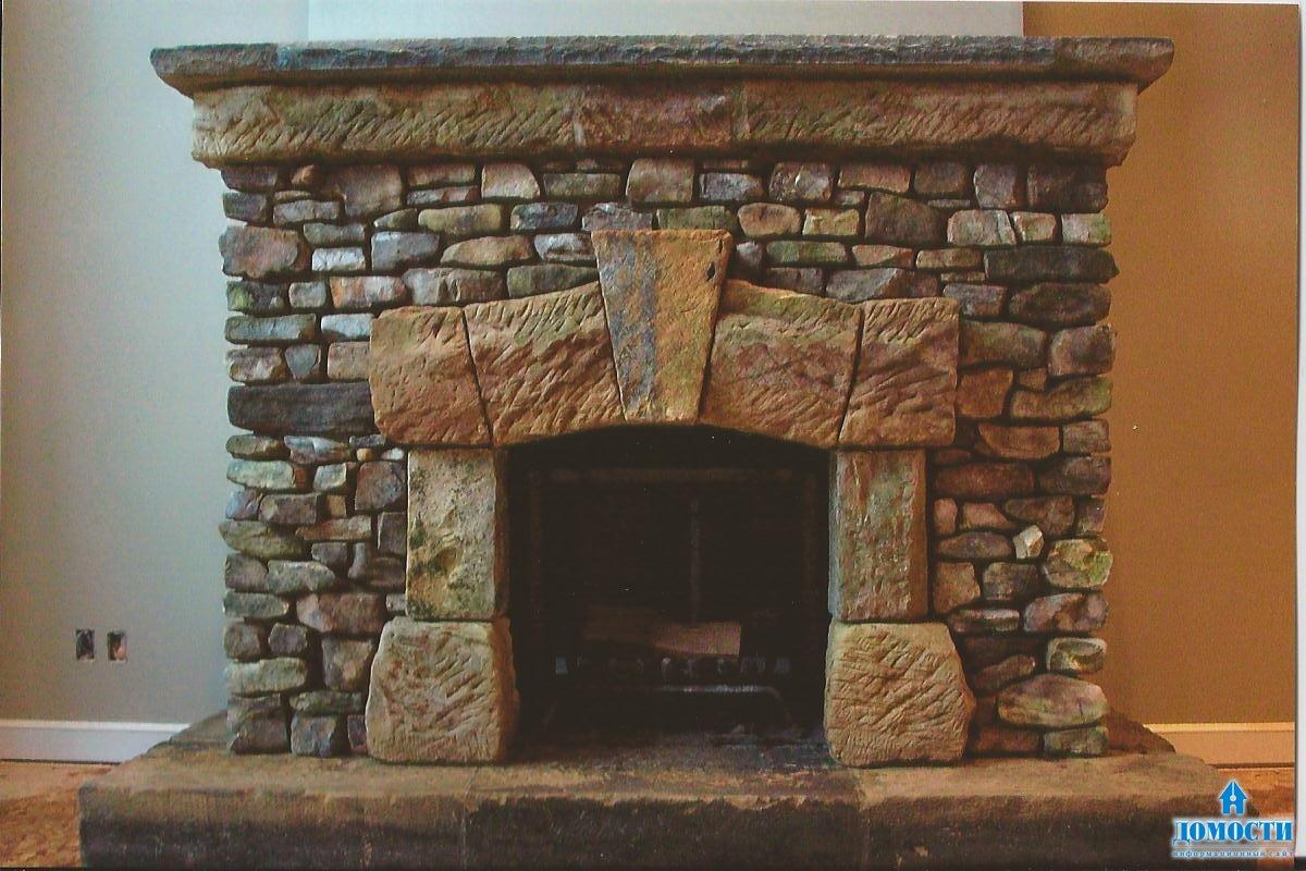 Камины из природного камня
