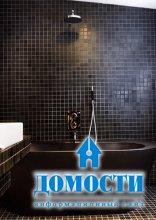 Блеск и очарование ванных в темной гамме