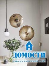 Музыкальный интерьер скандинавской квартиры