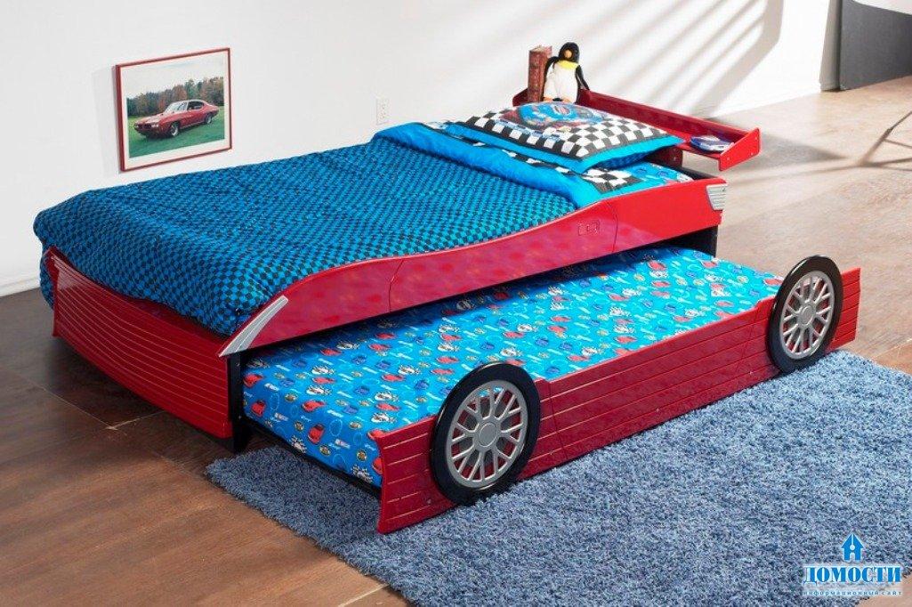 Как сделать кровать машину своими руками фото